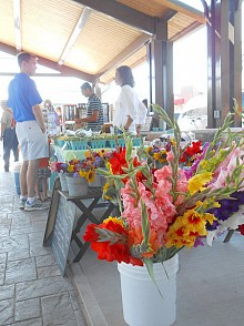 A farmers market in Watertown, in Jefferson County. Photo: Joanna Richards