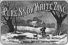 Zinc mining in New York has a long history, as this 1876 advertising label attests.