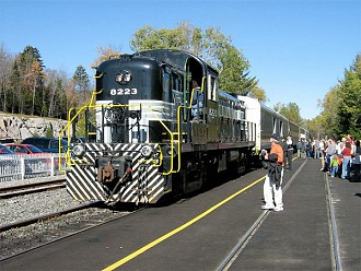 Adirondack Scenic Railroad train in Old Forge. Photo: Bradley O'Brien, CC some rights reserved