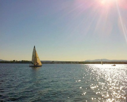 Sailing on Lake Champlain. Photo: Sarah Harris
