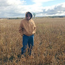 Richard Eakins of Norco Farms. He has 300 acres of soybeans. Photo: Sarah Harris.