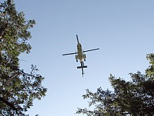 A helicopter assists in the search and rescue effort. Photo: courtesy NY Dept. of Environmental Conservation