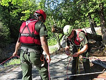 Search and rescue team team securing safety lines.  Photo: courtesy NY Dept. of Environmental Conservation