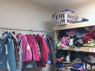 The Swap Shop at Banford Elementary School in Canton provides warm clothing for students. Photo: Sarah Harris