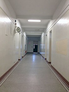 Walking Old Snell's long hallways transports you back in time. Photo: Sarah Harris.