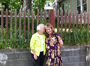 Kelly and her friend, Susan Arnold, in Saranac Lake, NY. Photo: Zach Hirsch