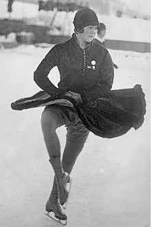 "An early image of Henie skating. Photo: <a href=""http://en.wikipedia.org/wiki/File:Bundesarchiv_Bild_102-11013A,_Sonja_Henie.jpg"">German Federal Archive</a>, Creative Commons, some rights reserved"