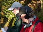 Brian Mann listening for Bicknell's thrush on Lyon Mountain. NCPR file photo