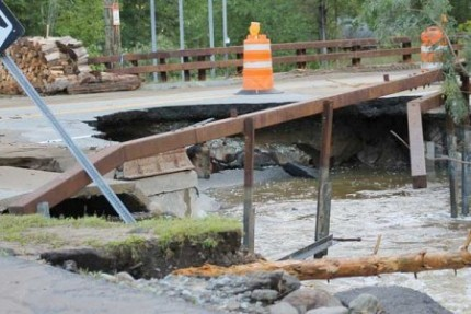 Damage from 2011's Tropical Storm Irene, in Keene, NY. Photo: Kathy Regan