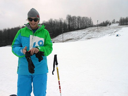 Chance Gerken was out enjoying the slopes at Dry Hill Ski Area in Watertown. Photo: Joanna Richards