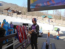 Saranac Lake luger Chris Mazdzer training in Sochi.  Photo: Sandy Caligiore Luge USA used by permission