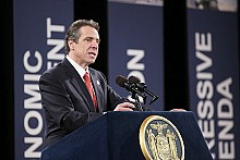 "Gov. Andrew Cuomo has made downsizing prisons a major part of his first term.  Shown here delivering his State of the State address on Jan. 9, 2013. Photo: <a href=""http://www.flickr.com/photos/57782386@N06"">Gov. Cuomo's office</a>"