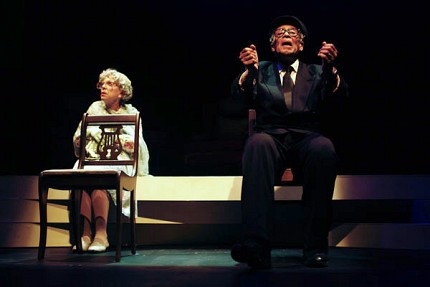 Nicola Lipman as Miss Daisy & Walter Borden as Hoke.  Photo: 1000 Islands Playhouse
