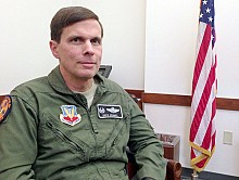 Colonel Greg Semmel commands the 174th Attack Wing. Photo: David Sommerstein