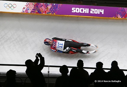 These sports happen in the blink of an eye, but Nancie Battaglia has been following North Country athletes like Remsen luger Erin Hamlin long enough to capture classic moments. Photo: © Nancie Battaglia