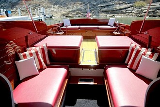 A peek inside <em>Flat Top</em>. Photo: Antique Boat Museum