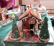 Creativity abounds at TAUNY's gingerbread workshop. It's all sweets and fun, with none of the dark overtones of Hanzel and Gretel. Photo: Julie Grant