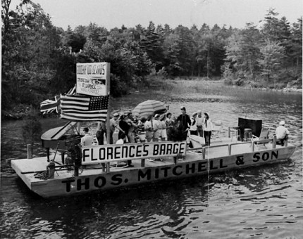 The barge of the 1000 Islands Navy, or the Admiralty. Photo courtesy Tom French.