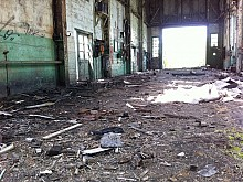 Inside the former machine shop at the J&L site. Photo: Zach Hirsch