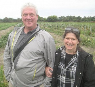 Area residents Mitch Rasmussen and Barb McIntyre own 84 acres and want to protect sustainability. Photo: Lucy Martin