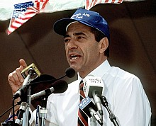 "Governor Mario Cuomo, speaking in 1991 Photo: <a href=""http://en.wikipedia.org/wiki/File:Mario_Cuomo_speaking_at_a_rally,_June_20,_1991.JPEG"">Wikipedia</a>"
