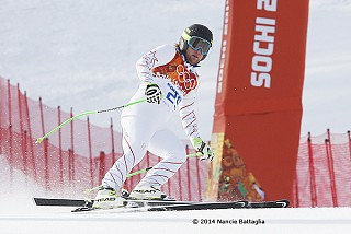 Weibrecht's run drew acclaim from other skiers, including Bode Miller, who claimed bronze.  Photo:  © Nancie Battaglia