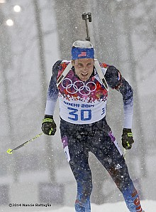 "Tim Burke says an individual medal was the goal in Sochi, but he has ""no regrets."" Photo: © Nancie Battaglia"