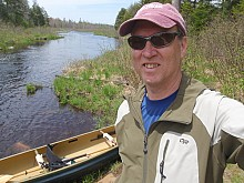 Journalist and paddler Phil Brown with the Adirondack Explorer