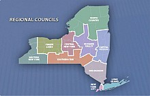 New York's Regional Economic Development Council regions. Image: http://regionalcouncils.ny.gov/