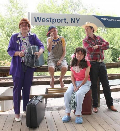 Chan Harris as Mr. & Mrs. Bumiller, Trip Plymale as Jody & Charlene (Photo: Depot Theatre)