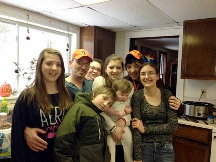 The Wieczorek family. Photo: Sarah Harris