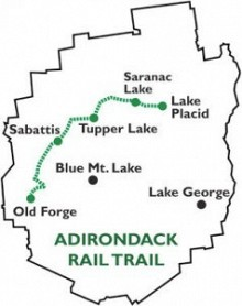 ARTA says the new trail could be constructed using salvage revenue fro the steel revenues.  Image:  Map via ARTA website