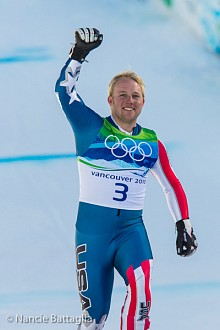 Alpine skier Andrew Weibrecht after his bronze medal performance at the 2010 Vancouver Olympics. Photo: Nancie Battaglia