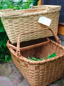 Martha Foley has two picnic baskets made by Arquette, one from the 1970s, and a new one in case the old one ever wears out. Photo: Martha Foley