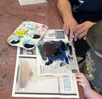The classes include singing, movement and a visual arts project, like working with water colors. Photo: Todd Moe