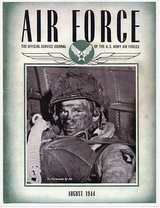 "The August, 1944 issue of ""Air Force"" magazine with Bob Noody on the cover."