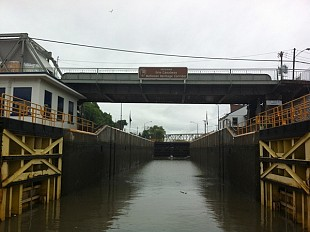 Entering the Champlain Canal in Whitehall. Photo: Sarah Harris