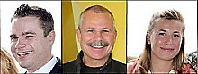 Saranac Lake Mayor Clyde Rabideau with son Kasey (left) and daughter Randi (right).  (Photos:  Clyde Rabideau)