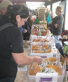 Eager gardeners could also shop for commercial seeds. Photo: Lucy Martin