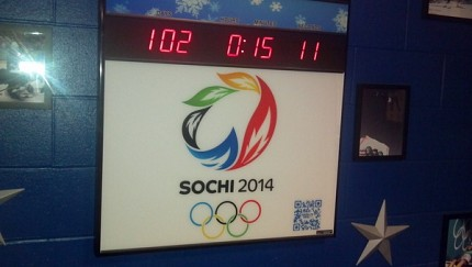 The clock is ticking down to the opening ceremonies in Sochi, Russia.  Photo: Brian Mann