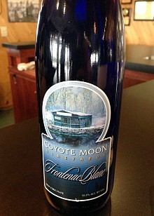 America's newest cold climate wine: Coyote Moon's Frontenac Blanc. Photo: David Sommerstein