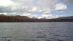 A view from the water on Boreas Ponds. NCPR file photo: Brian Mann