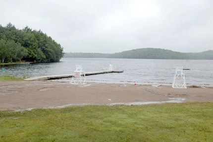 The current beach location, on Lake Colby, has long faced criticism from many locals. Photo: Mark Kurtz