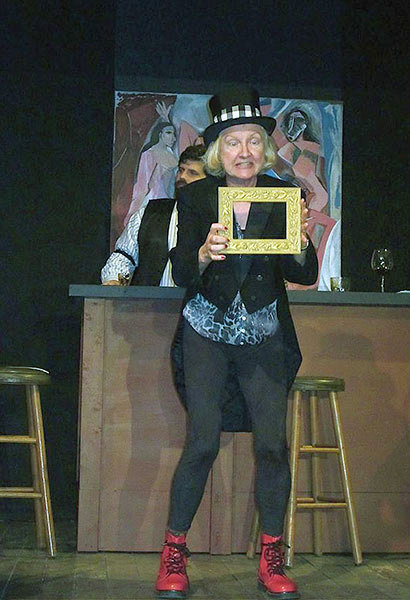"""GRP president Elaine Kuracina in a scene from last summer's production of """"Picasso at the Lapine Agile"""".  Photo: Grasse River Players"""