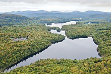 The Essex Chain of Lakes. The process is now underway to determine what kind of recreation and public use will be allowed. Photo: Carl Heilman, courtesy Adirondack Nature Conservancy