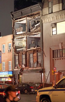"A building in Manhattan's Chelsea neighborhood destroyed by Sandy. Photo <a href=""http://www.flickr.com/photos/ccho/"">CCHO</a>, CC <a href=""http://creativecommons.org/licenses/by-nc-nd/2.0/deed.en"">some rights reserved</a>"