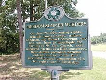 Mt. Zion Church state history marker near Philadelphia, Mississippi.  Photo:  Robfergusonjr via Wikipedia Commons