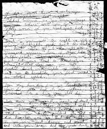 Israel Keyes cryptic, morbid suicide note offered no additional clues about his victims or the whereabouts of their bodies.  (Image:  FBI)