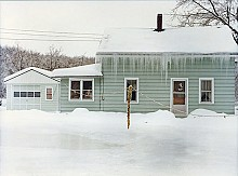 This is the same house during the flooding in December 1977. Photo: provided by Dave Werner.