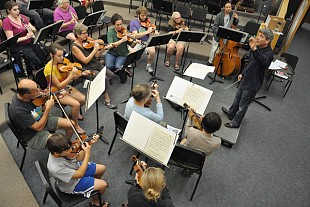 Me2/orchestra is a diverse group, with members ranging in age from 12-88 years old, including students, health care workers, professional musicians, school teachers, and retirees. Photo: John Siddle, 2013